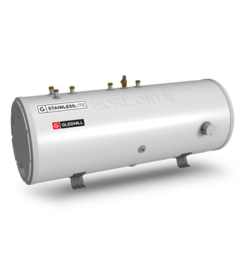 StainlessLite Horizontal - Unvented Cylinder